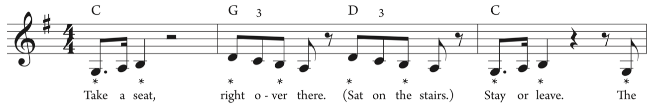 Ex. 2  Tonal contradictions between melody and harmony