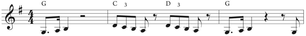Ex. 3 Tonal concordance between melody and harmony