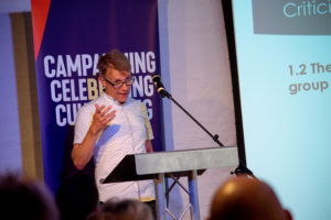 Prof David Hesmondhalgh giving one of the academic talks which took place at The Ivors Academy
