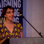 Prof Bethany Klein giving one of the academic talks which took place at The Ivors Academy