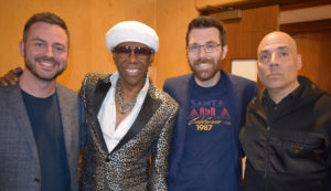 Sodajerker (aka Simon and Brian) with Nile Rodgers and Merck Mercuriadis