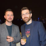 Simon and Brian of Sodajerker enjoying the aftershow party for Johnny Marr's Meltdown gig