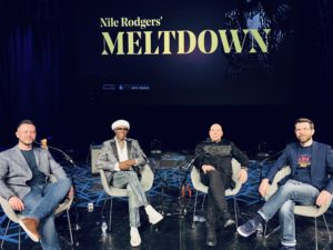 Simon Barber, Nile Rodgers, Merck Mercuriadis, Brian O'Connor
