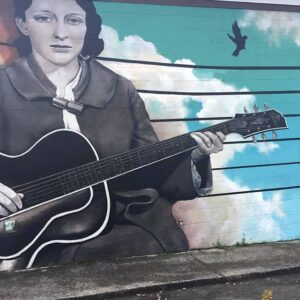 Mural of Maybelle Carter